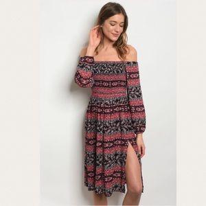 Dresses & Skirts - OFF SHOULDER COLOR RED DRESS